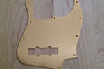 Gold Anodized Pickguard for Jazz Bass
